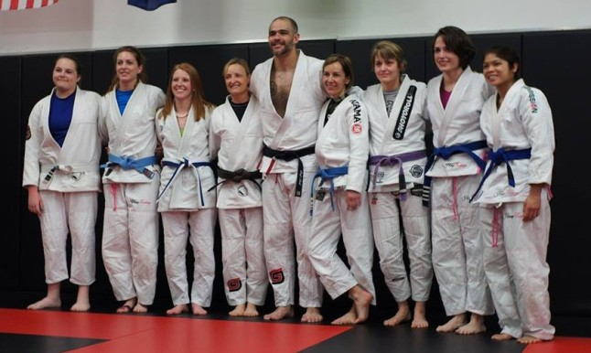 My fellow GGBJJ grappler girls and I with Prof. Jeremy Arel