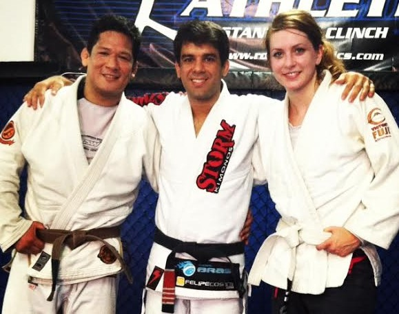 Christian Montes, Felipe Costa, and me - back when I trained at Ronin Athletics